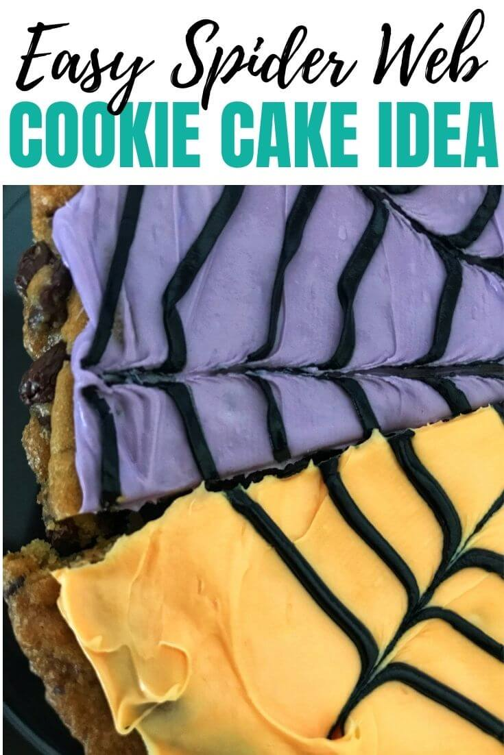 Spider Web Cookie Cakes
