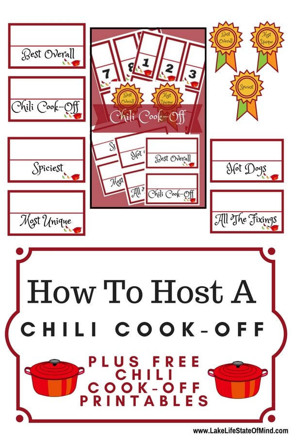 How to host a chili cook-off