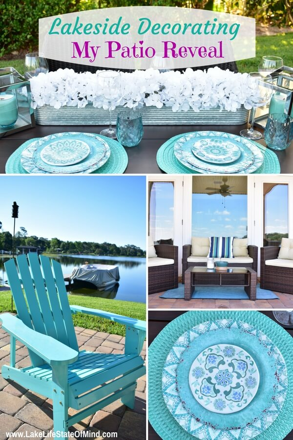 Our Lakeside Patio Reveal | Outdoor Decorating Ideas