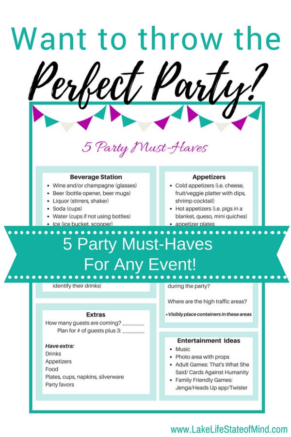 What every party must have | Five party must-haves
