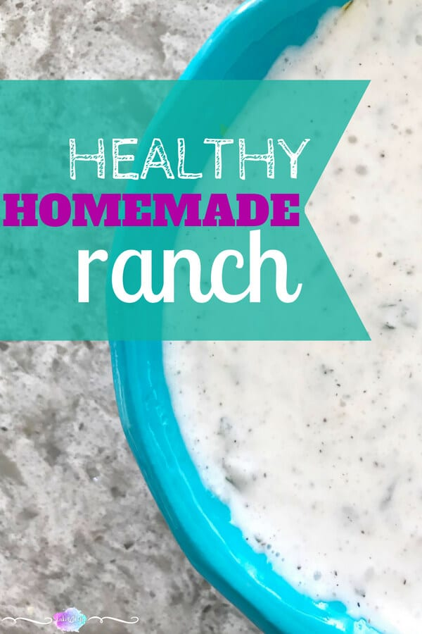 Healthy Homemade Ranch Dressing is the perfect alternative to any healthy nutrition plan. This healthy homemade ranch dressing is made healthy using greek yogurt and low-fat buttermilk. Make this sodium-free dressing at home in less than five minutes! #healthyfood #ranchdressing #saladdressing #salad
