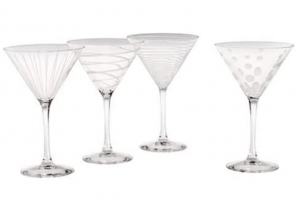 Mikasa martini glass set