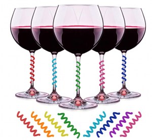 wine stem charms