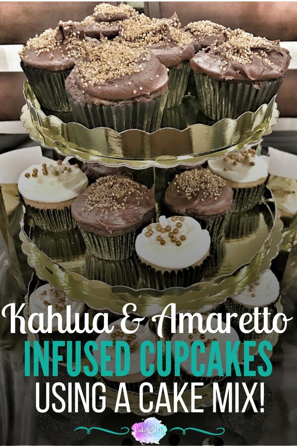 Kahlua and Amaretto Cupcakes | Easy Cake Mix Recipe | Easy Dessert