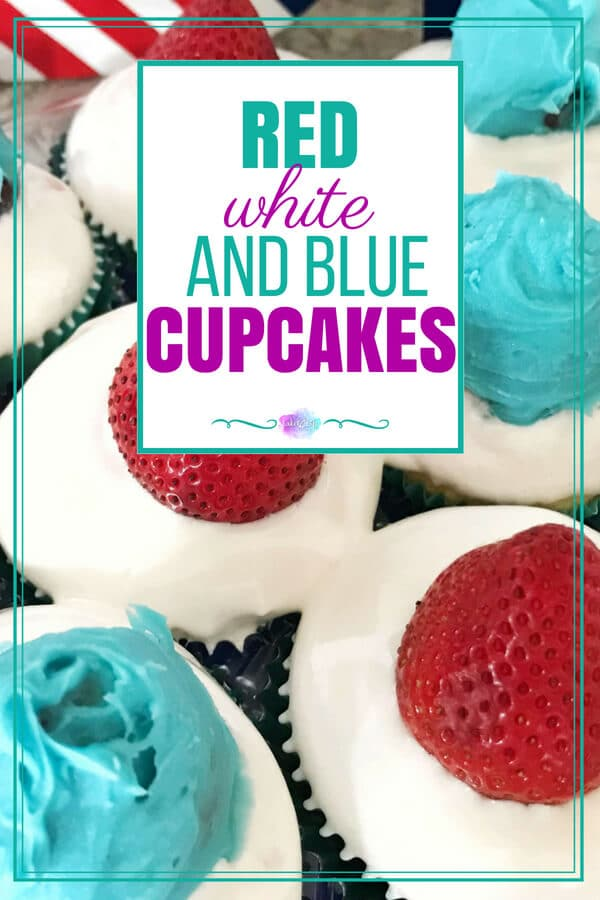 Red, White and Blue Cupcakes | Easy 4th of July Dessert Recipe