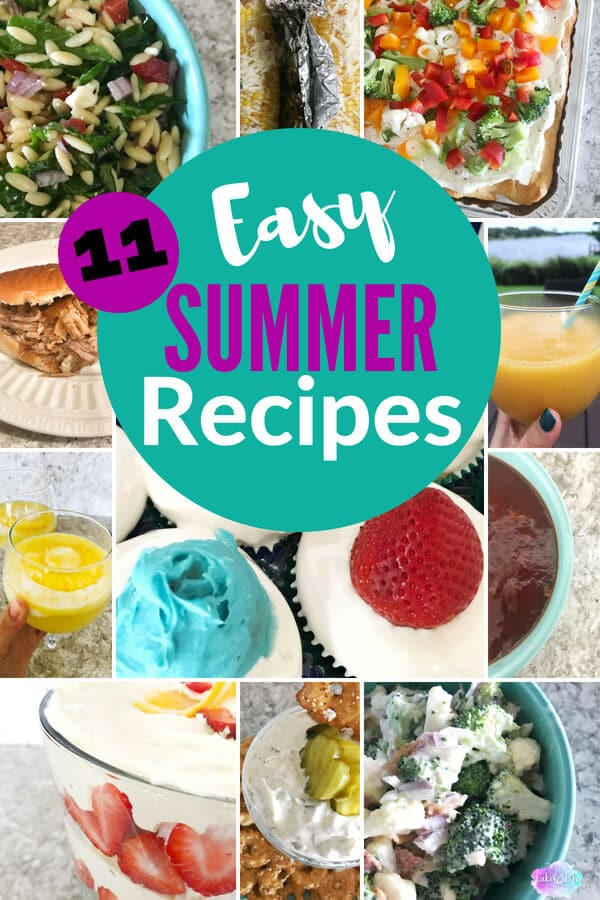 Check out these Easy Summer Entertaining Recipes I've put together to make the perfect summertime menu. Perfect for a BBQ, backyard party, or deck party! These simple summer recipes are all crowd-pleasers, too! #summerentertaining #outdoorparty #easyrecipes #easycooking #reciperoundup