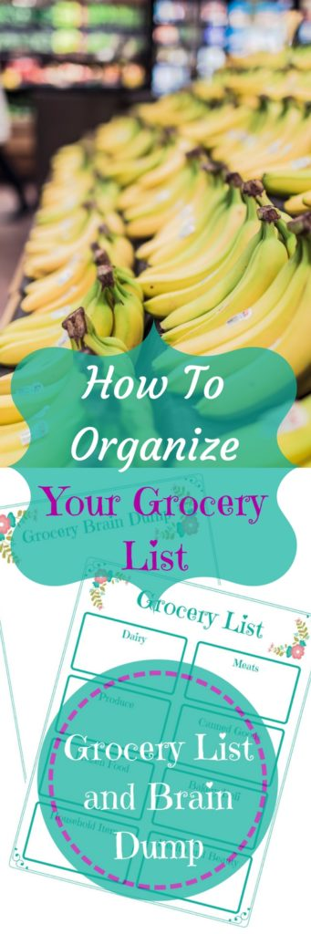 Grocery List and Brain Dump Free Printable
