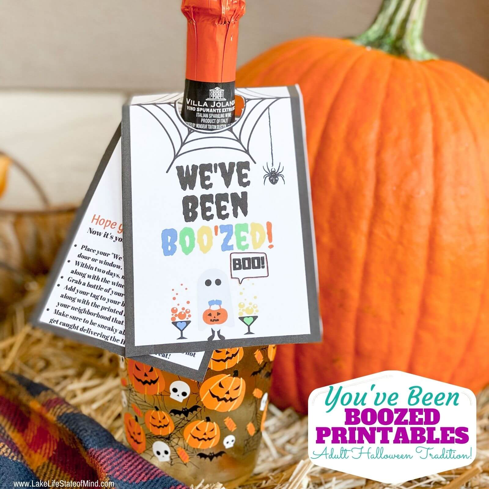 You've Been Boozed | Free Halloween Wine Tag Printables