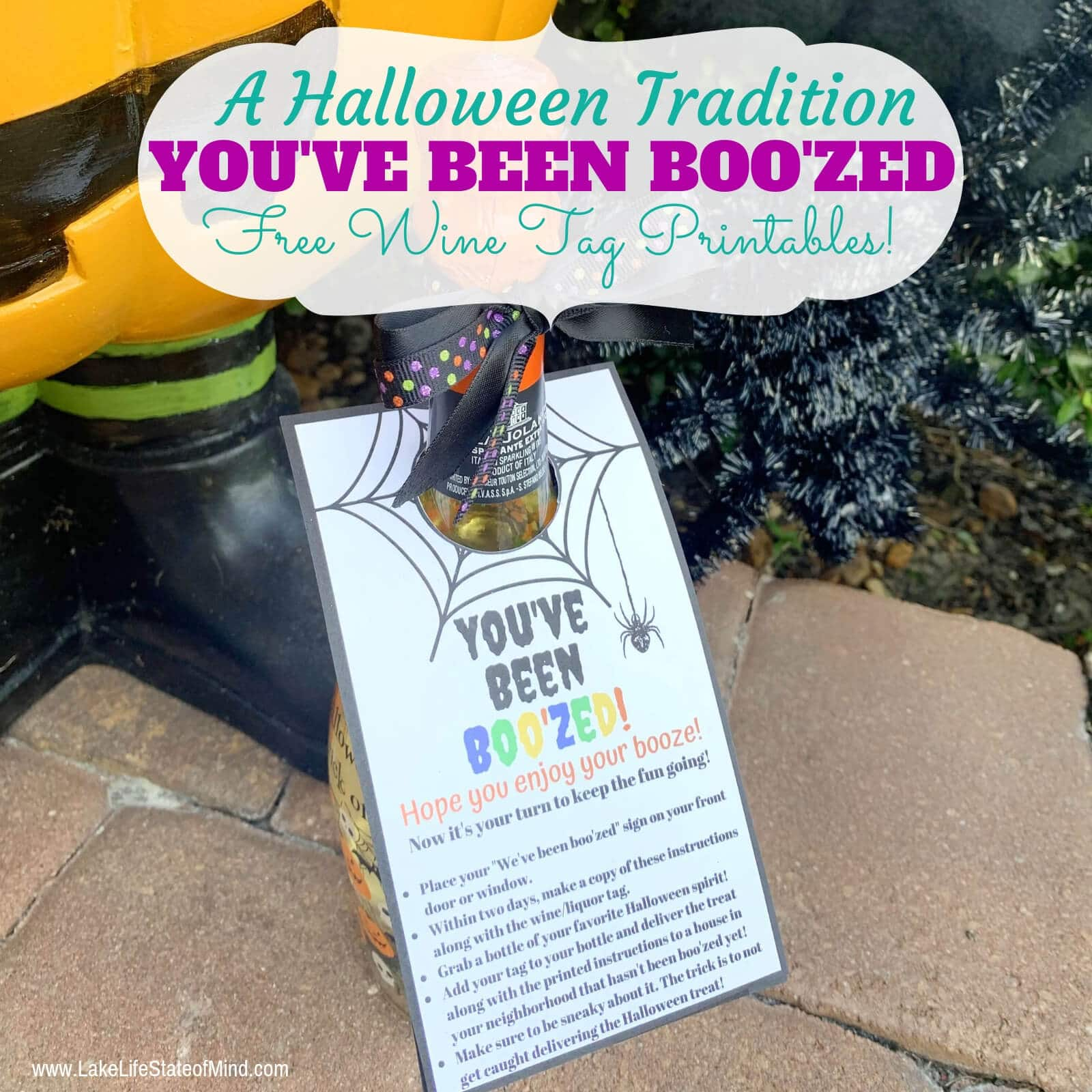 You've Been Boo'zed | Free Halloween Wine Tag Printables