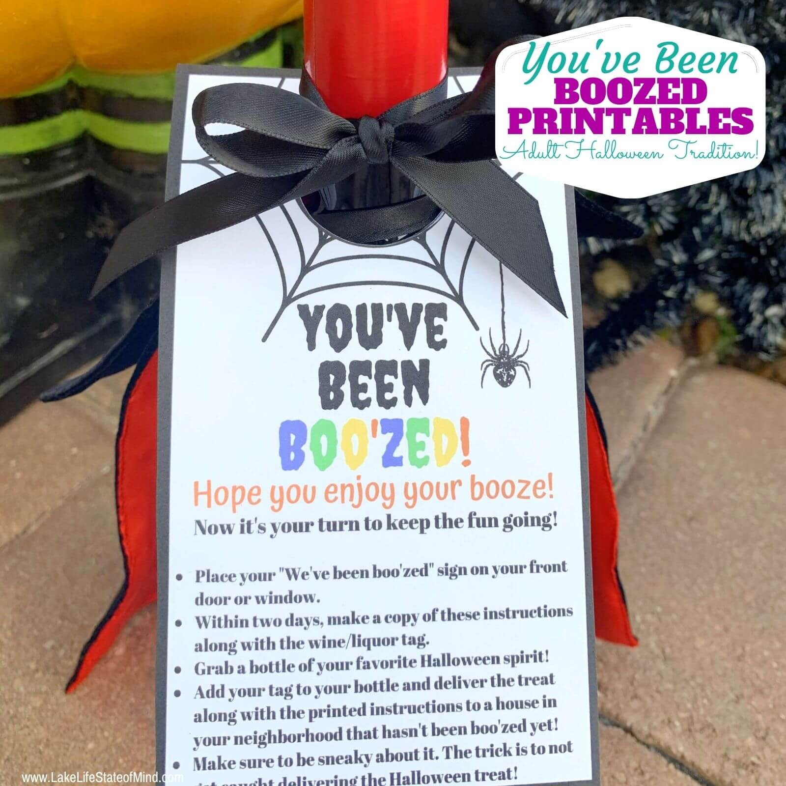 You've Been Boozed   Free Halloween Wine Tag Printables