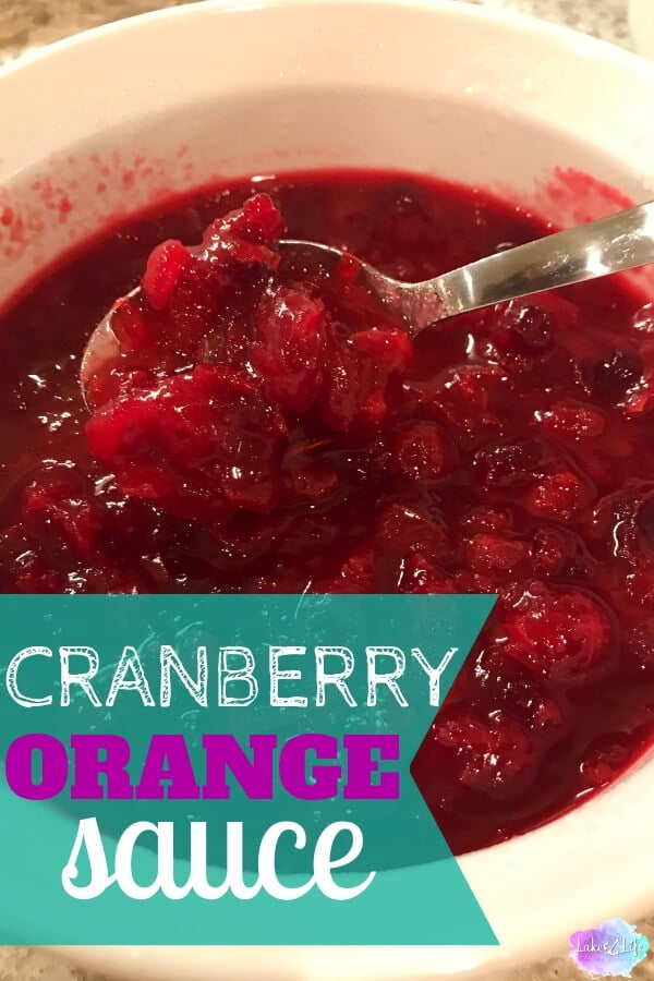 With just three ingredients, this Simple and Easy Cranberry Sauce is the perfect side dish for your holiday table this year. The best part is this homemade cranberry sauce recipe can be ahead of time. There's nothing better than an easy make-ahead side dish! #cranberrysauce #cranberry #oceanspray #sidedish #lakelifestateofmind