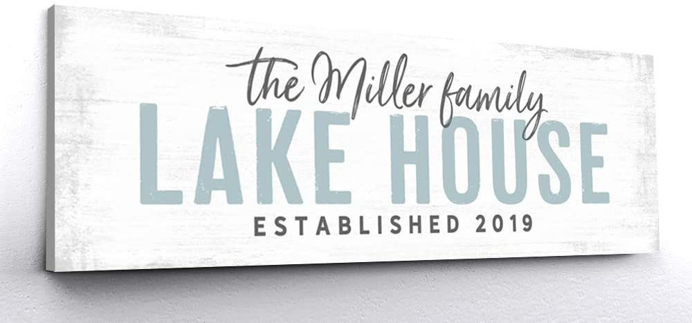 Personalized Lake House Sign | Lake House Gift Ideas