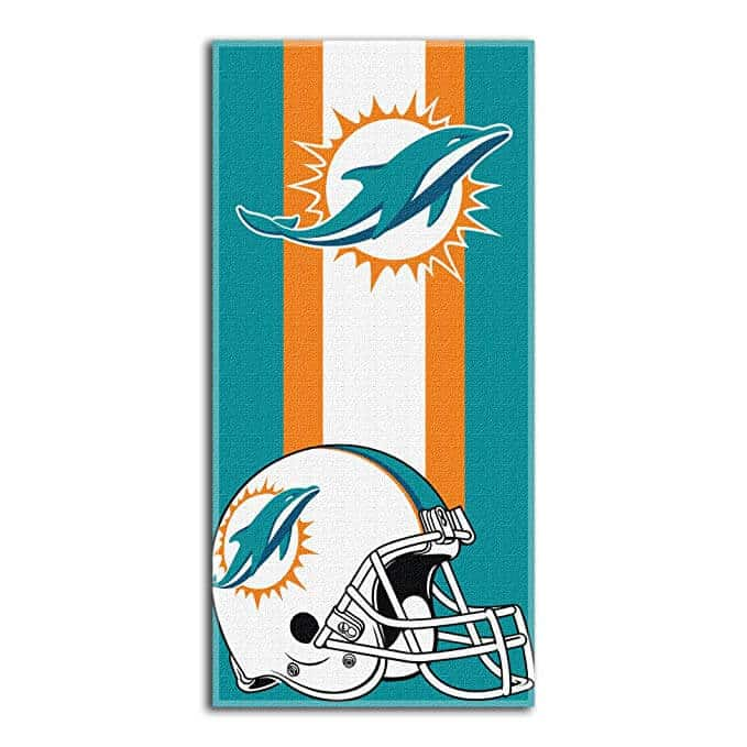 "Officially Licensed NFL ""Zone Read"" Beach Towel, 30"" x 60"", Multi Color"
